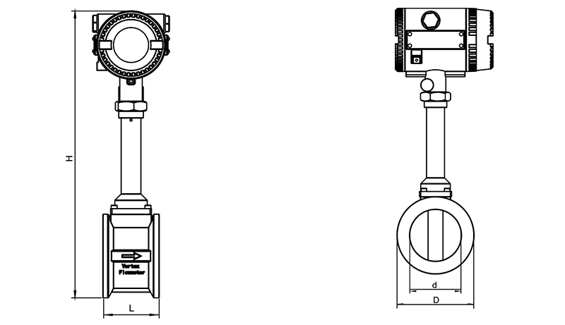 full tube type turbine flow sensor
