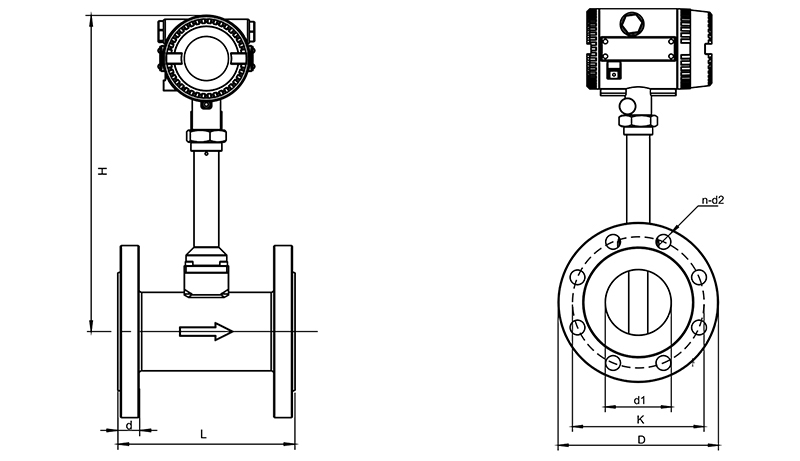 flange type flow meter